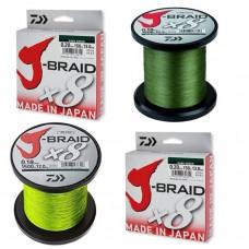DAIWA J-BRAID x8  -  dunkelgrün.... Ø0,42 ~ Ø0,56 mm ..... 9€/100m