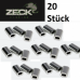 Zeck Alu Sleeve Klemmhülsen 1,30 mm  (20 Stück)