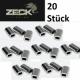 Zeck Alu Sleeve Klemmhülsen 1,00 mm  (20 Stück)