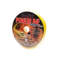 POWERLINE PRO  12x - gelb Meterware
