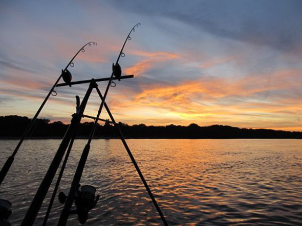 angeln-im-sonnenuntergang
